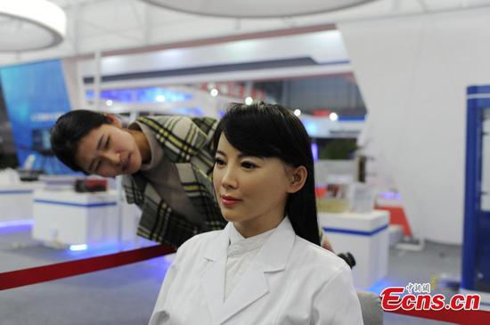 Humanoid robot Yijia debuts in exhibition