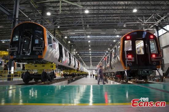 CRRC rolls out first train in Massachusetts