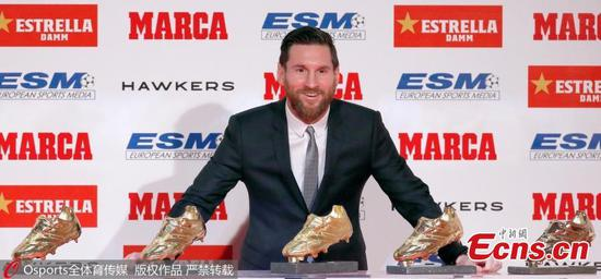 Lionel Messi wins record fifth European Golden Shoe award