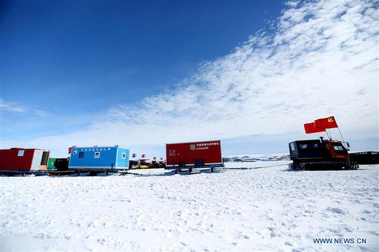 China's Antarctic expedition sends 37 members to Kunlun, Taishan stations