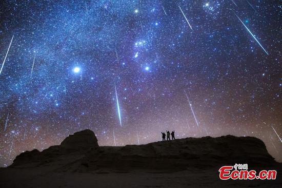 Geminid meteor shower dazzles stargazers in Qinghai