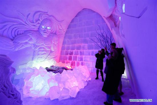 Ice and snow hotel in north China's Inner Mongolia