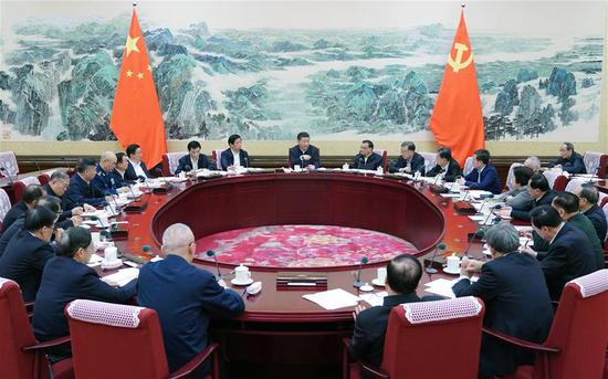 Xi Jinping, general secretary of the Communist Party of China (CPC) Central Committee, presides over a meeting convened by the Political Bureau of the CPC Central Committee in Beijing, capital of China. The meeting was held in Beijing from Dec. 25 to 26, 2018. (Xinhua/Xie Huanchi)