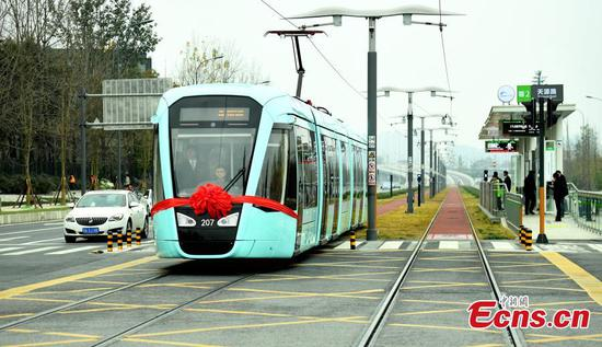 Chengdu's new tram line in operation