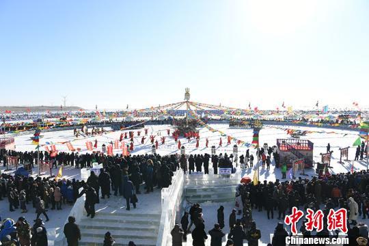 Chagan Lake winter fishing festival kicks off on Dec 28. (Photo: China News Service/Zhang Yao)