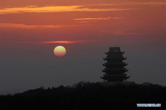 Sunrise scenery across China at 1st day of 2019