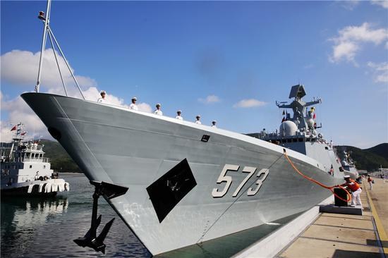 CNS Liuzhou is a Type 054A frigate. The vessel exported to Pakistan is said to be based on this class. (Photo/Xinhua)