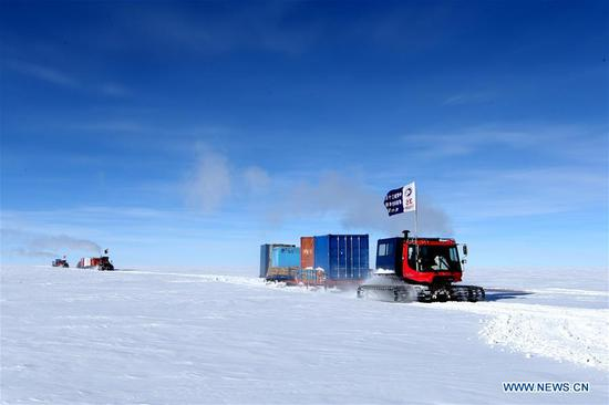 Kunlun team of China's 35th Antarctic expedition arrives at Kunlun Station