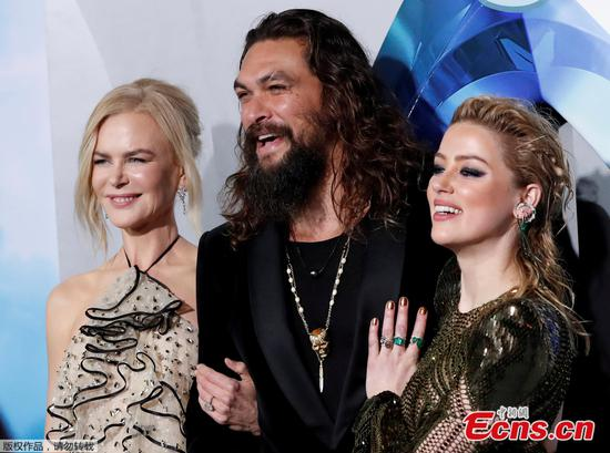 'Aquaman' tops North American box office for third weekend in a row