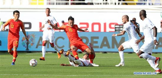 China beats Kyrgyz Republic 2-1 in AFC Asian Cup group C match