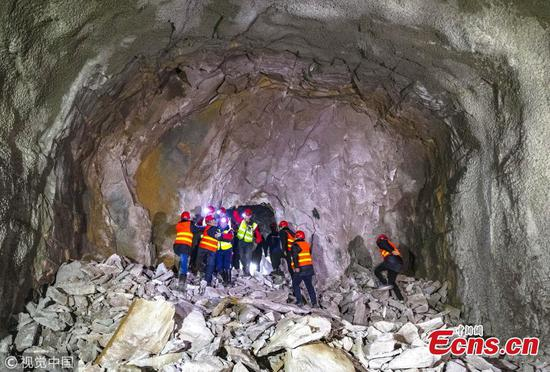 Winter Olympics utility tunnel bored through in Yanqing