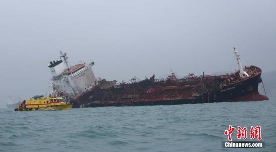 No pollution detected in Guangdong waters after oil tanker catches fire near HK