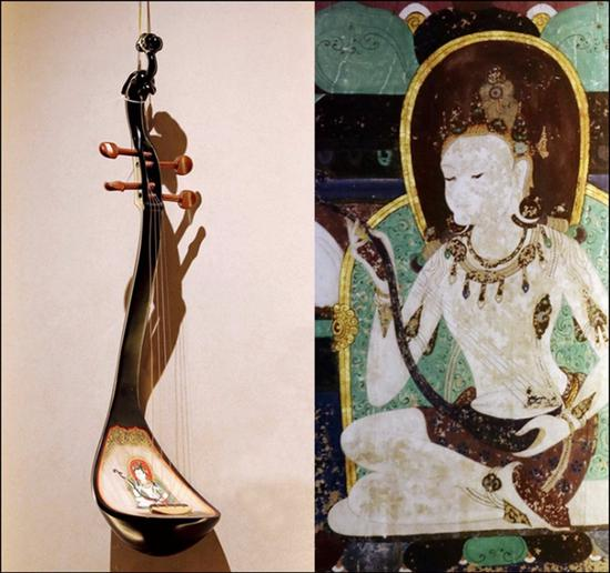 Expo sheds light on ancient instruments in Mogao Grottoes