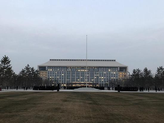 The new building of the Beijing Administrative offices in Tongzhou District. (Photo/CCTV)