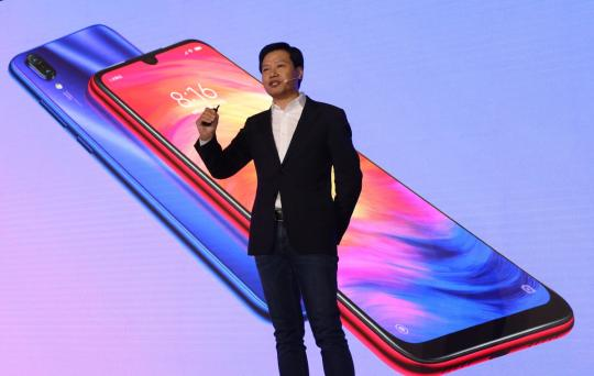 Xiaomi Corp CEO Lei Jun at the Redmi product release in Beijing on Thursday. (Photo provided to China Daily)