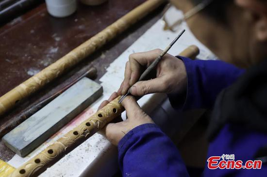 Yuping bamboo flute-making thrives in Guizhou
