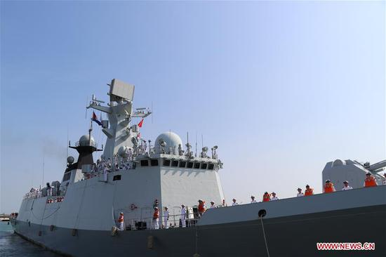 Chinese naval escort fleet concludes friendly visit to Cambodia