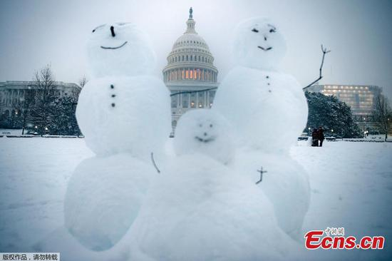 Snow scenery of Washington D.C.