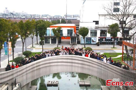 World's largest 3D-printed bridge in Shanghai