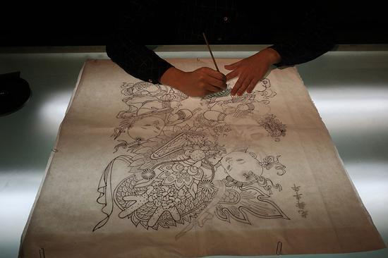 Yangliuqing woodblock printing thrives for nearly 400 years