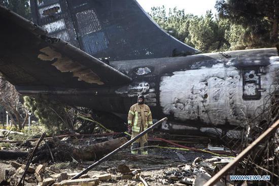 15 killed in cargo plane crash in northern Iran