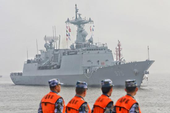 ROK naval destroyer visits Shanghai