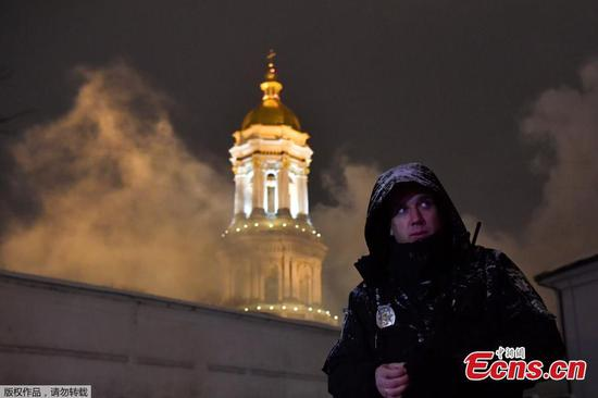 Fire breaks out at Kiev's historical monastery