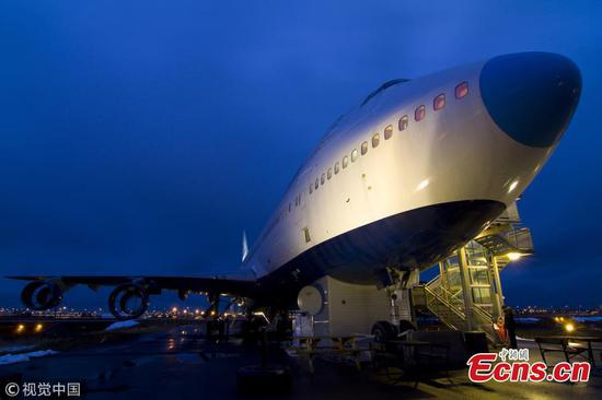 Boeing jet transformed into Jumbo Stay hostel