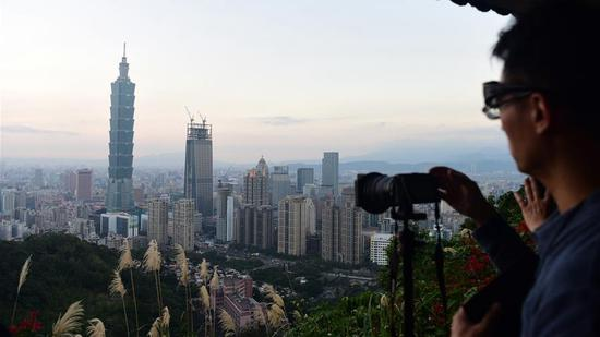 Taiwan's landmark Taipei 101 skyscraper. /Xinhua Photo)