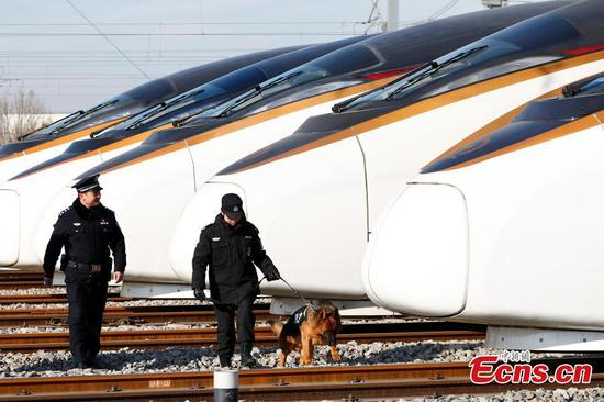 Beijing police increase railway security for travel peak