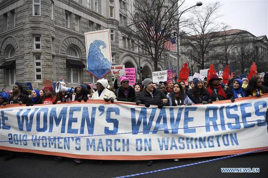 Thousands gather in Washington D.C. for third Women's March