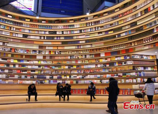 New bookstore in Hohhot attracts visitor's attention