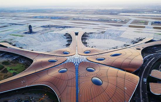A glimpse of Beijing Daxing International Airport