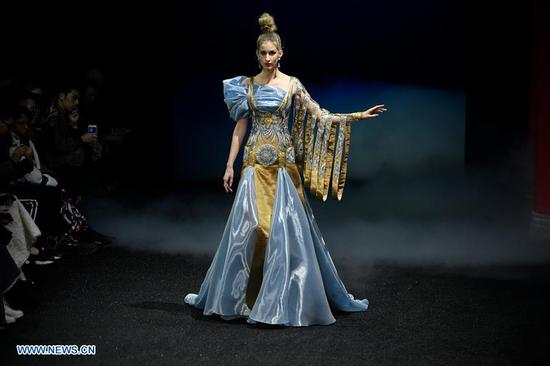 Creations of Guo Pei showed during Haute Couture 2019 shows