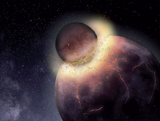 Study: Earth got life when planets collided
