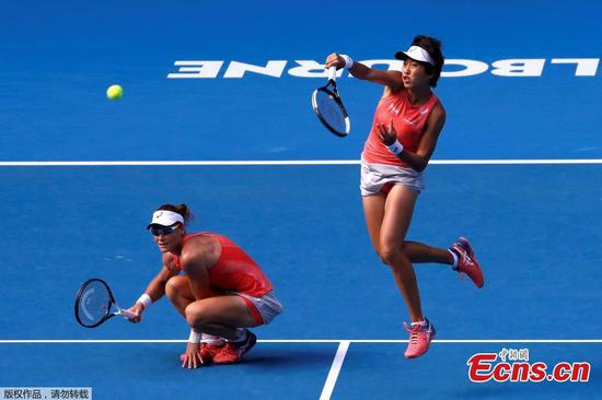 Zhang, Stosur win Australian Open women's doubles title