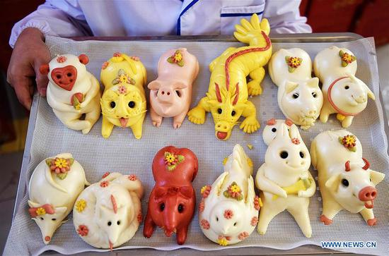 Villagers make Buns to celebrate lunar New Year in Shandong