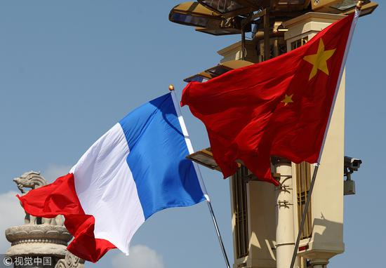 China marks 55 yrs of ties with France