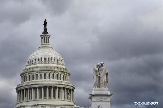 Capitol Hill is seen in Washington D.C., the United States, on Jan. 24, 2019. (Xinhua/Liu Jie)