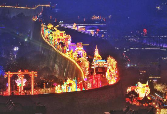 Lantern Festival ignites ancient city