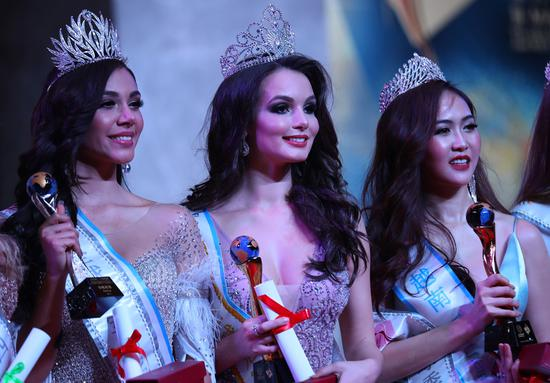 Top three winners of 53rd Miss All Nations released