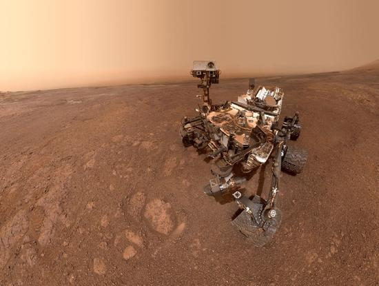 A selfie taken by NASA's Curiosity Mars rover on Sol 2291 (Jan. 15) at the