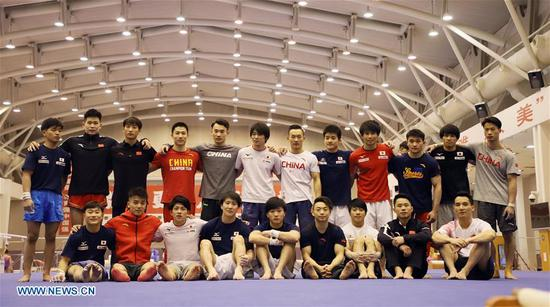First-ever China-Japan gymnastics co-training camp opens in Beijing