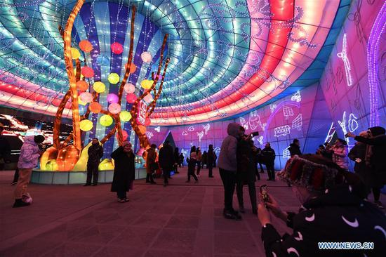 Lantern festival to greet upcoming Chinese Spring Festival kicks off in China's Shanxi