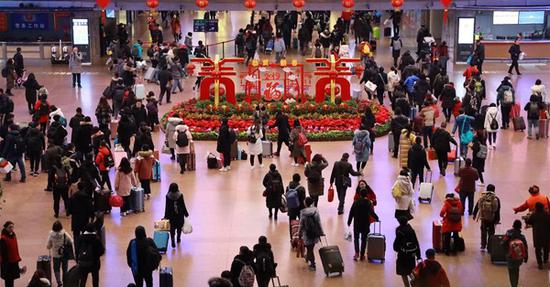 Beijing railway witnesses mounting travel rush before lunar new year