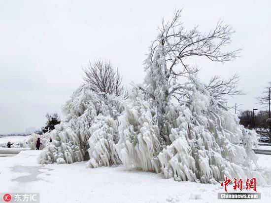 极地涡流带来破纪录的寒冷