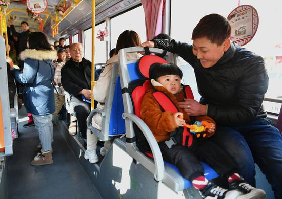 Bus offers child seats in northern city