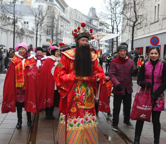 Spring Festival parade held in Belgium city