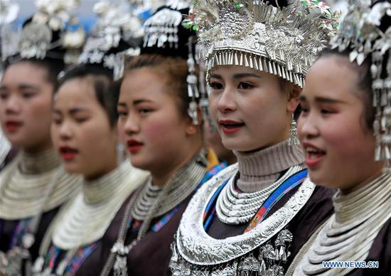 People of Dong ethnic group celebrate Spring Festival in China's Guizhou
