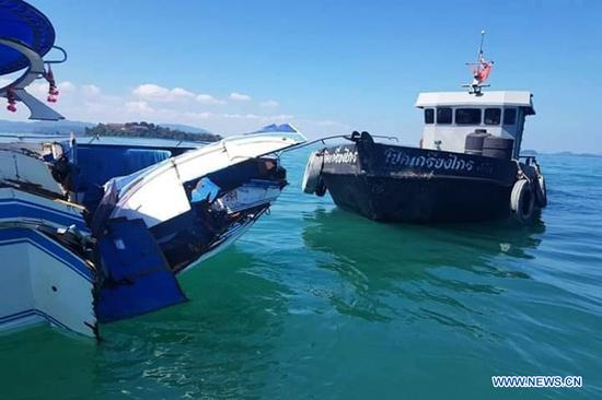 11 Chinese tourists injured after speedboat crashes in Thailand's Phuket
